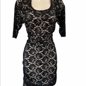 Torrid Size 2 Black Fitted Lace Dress